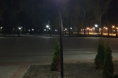 Освещение парка г. Покровск Донецкая обл